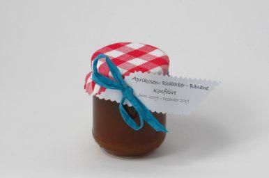 Aprikosen-Rhabarber-Bananenkonfitüre